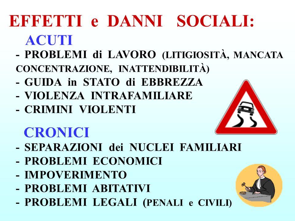 EFFETTI e DANNI SOCIALI:
