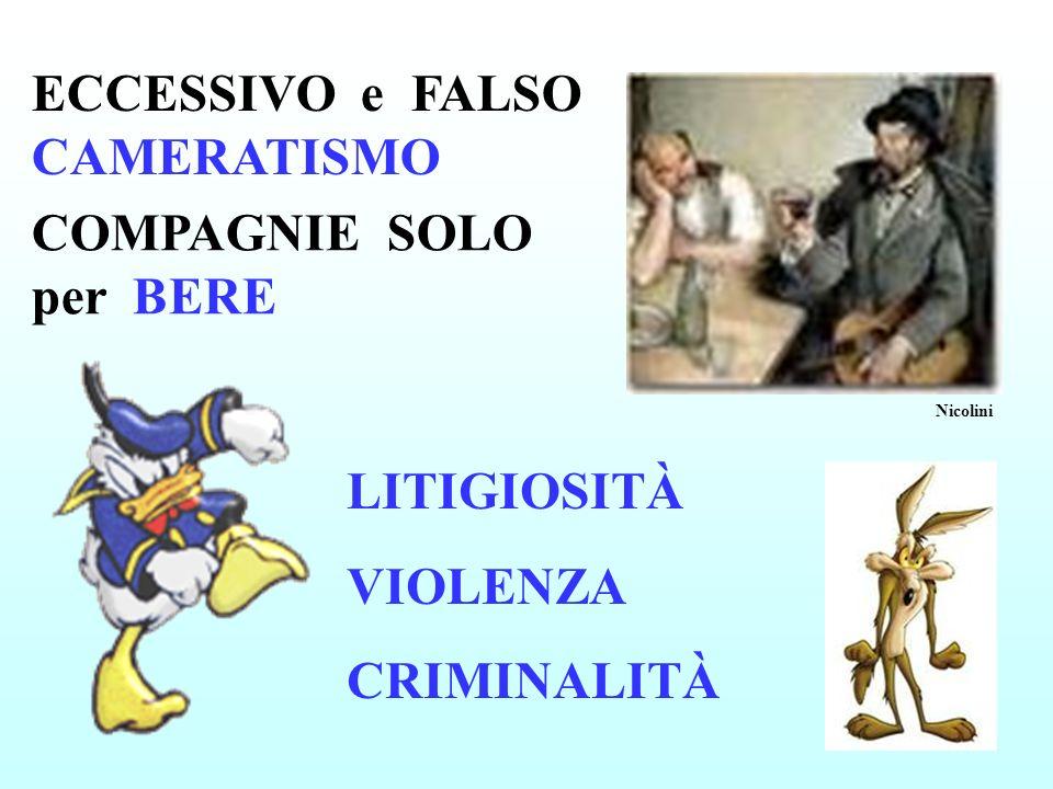 ECCESSIVO e FALSO CAMERATISMO