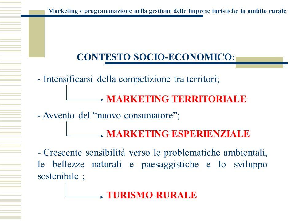 CONTESTO SOCIO-ECONOMICO: