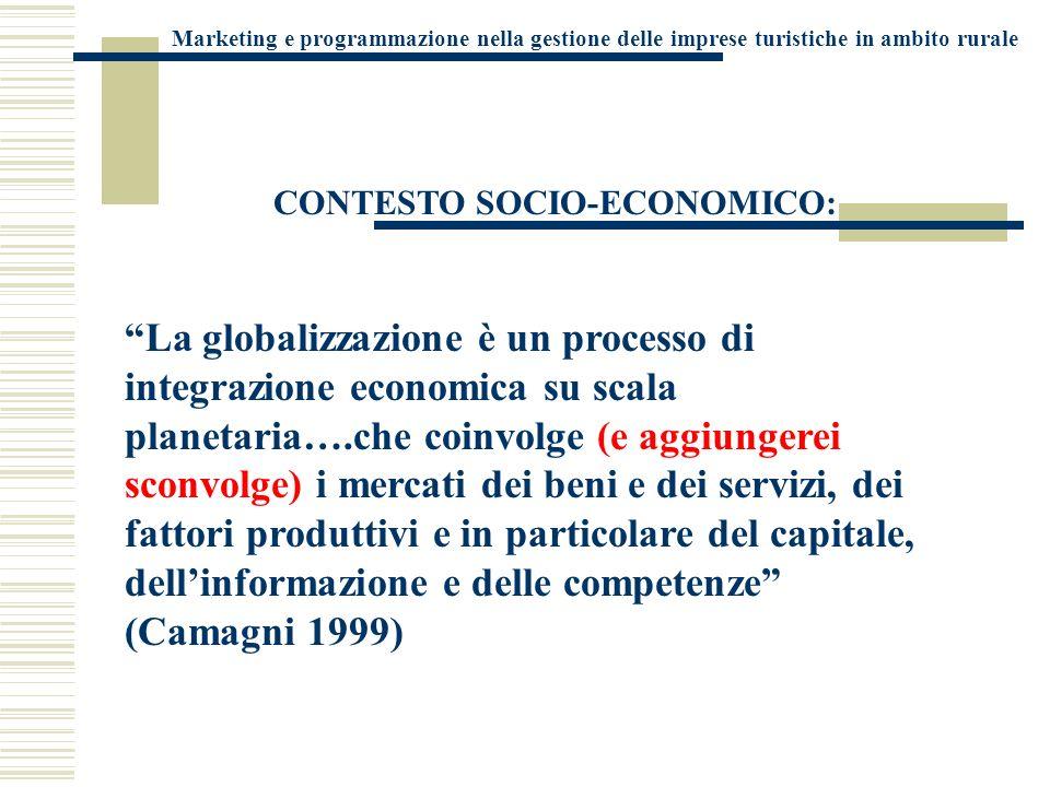 Marketing e programmazione nella gestione delle imprese turistiche in ambito rurale