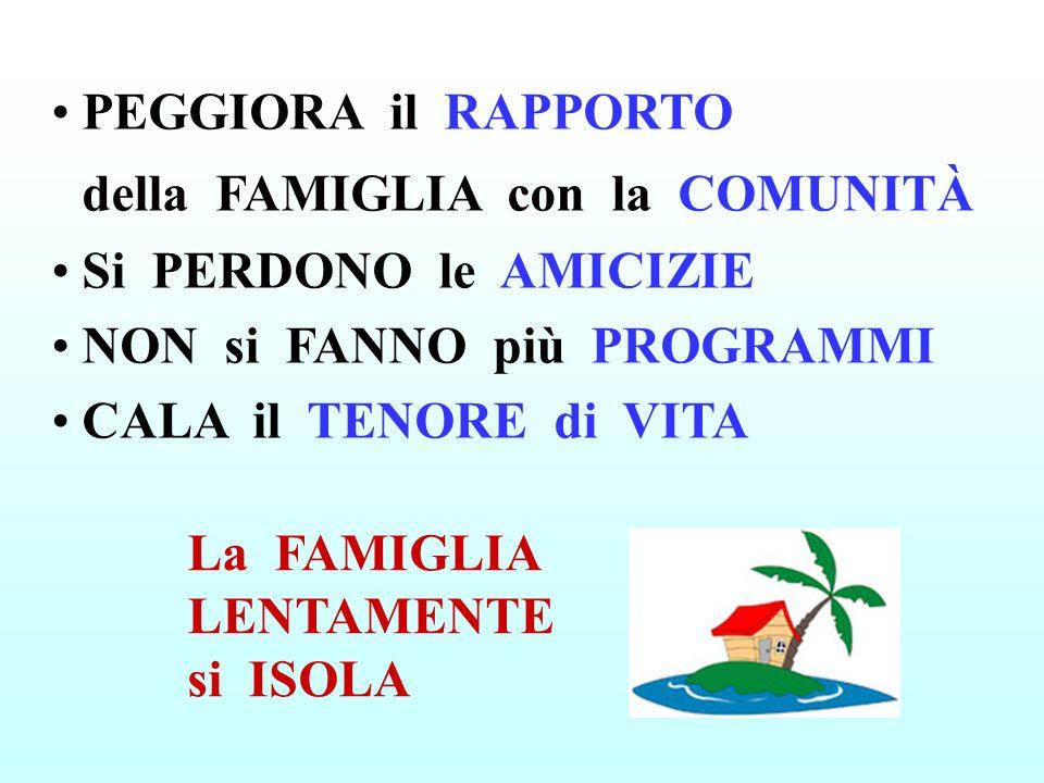 PEGGIORA il RAPPORTO della FAMIGLIA con la COMUNITÀ