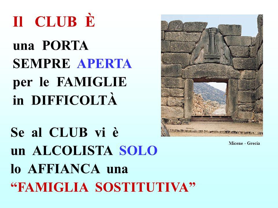 Il CLUB È una PORTA SEMPRE APERTA per le FAMIGLIE in DIFFICOLTÀ