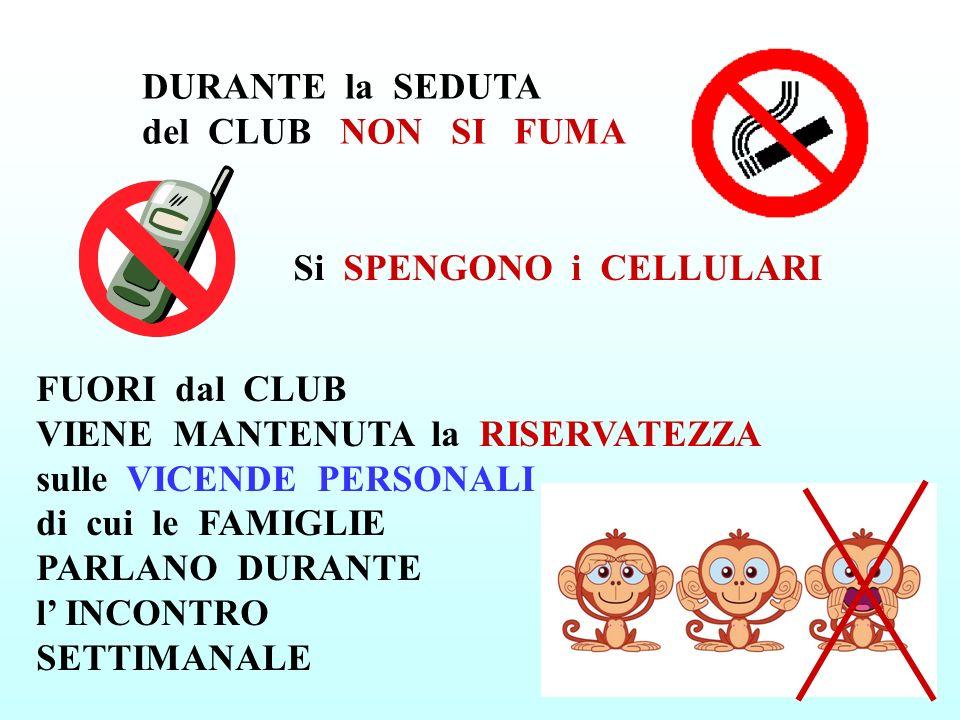 DURANTE la SEDUTA del CLUB NON SI FUMA