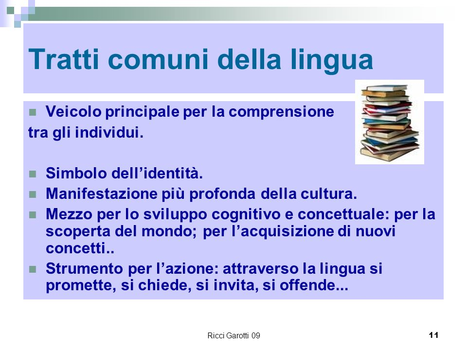 Tratti comuni della lingua