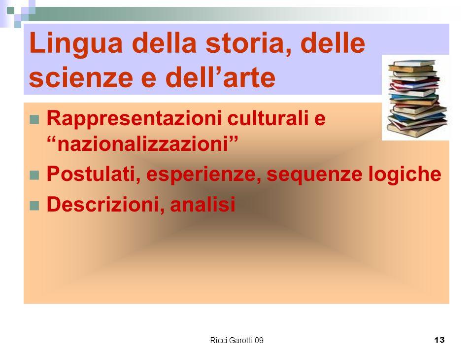 Lingua della storia, delle scienze e dell'arte
