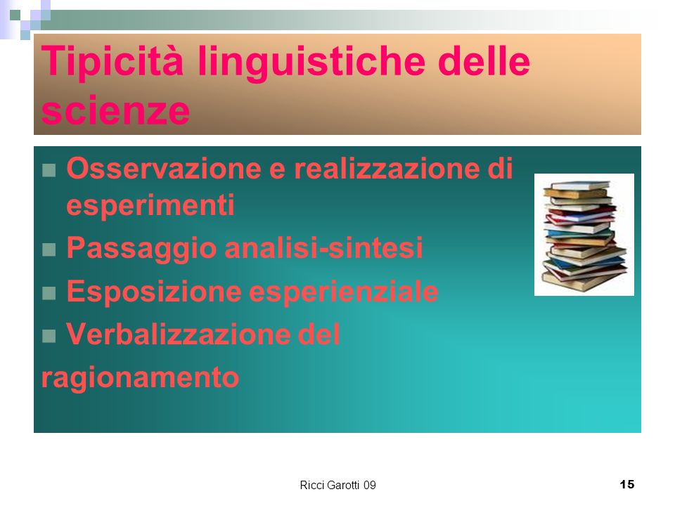 Tipicità linguistiche delle scienze