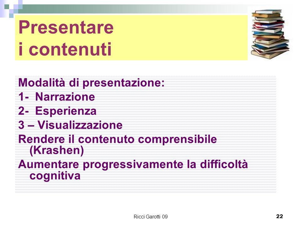 Presentare i contenuti
