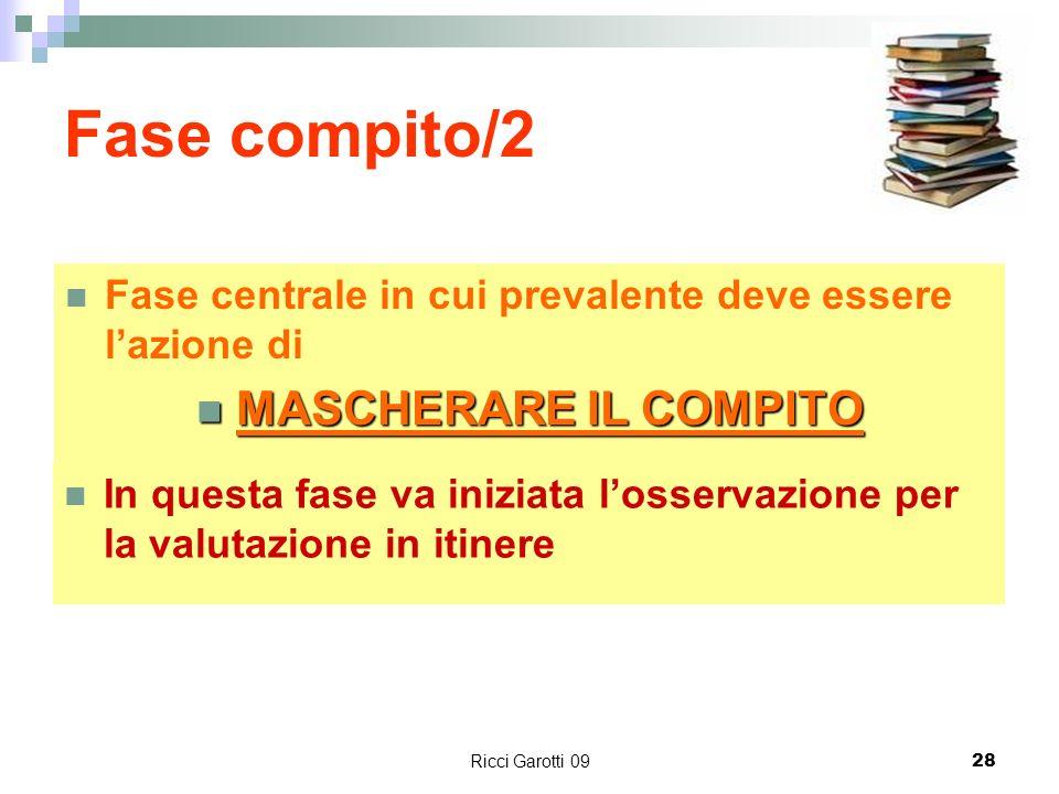 Fase compito/2 MASCHERARE IL COMPITO