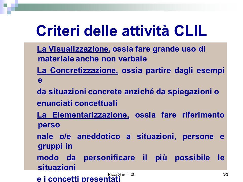 Criteri delle attività CLIL