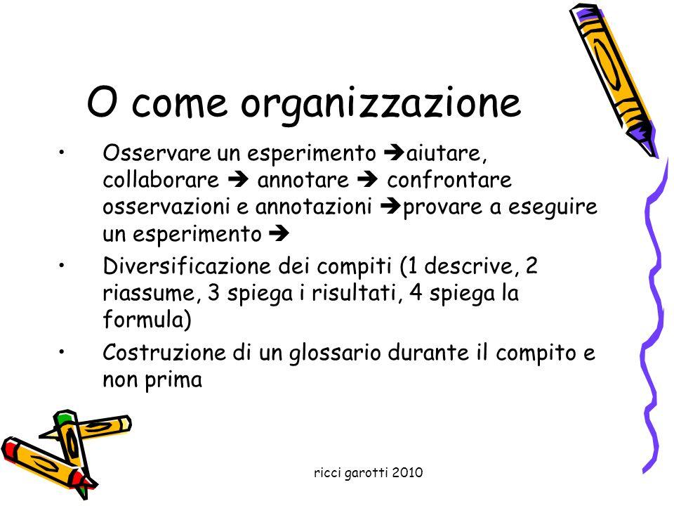 O come organizzazione