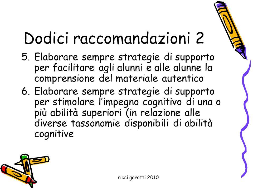 Dodici raccomandazioni 2