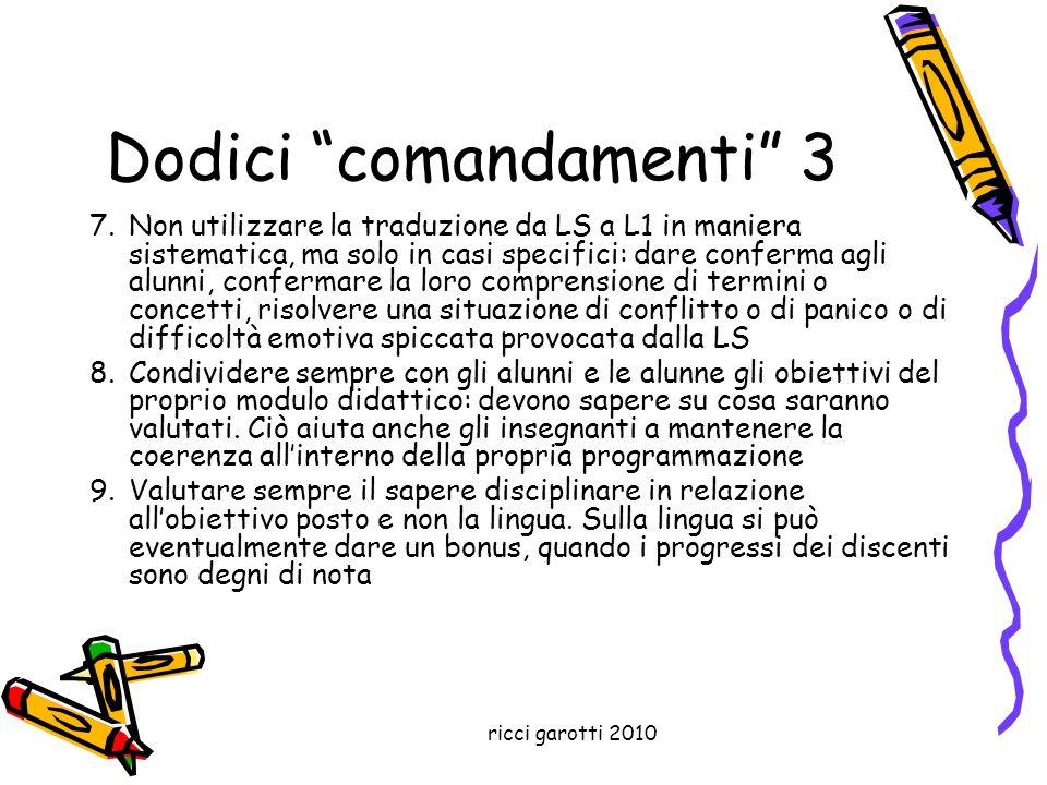 Dodici comandamenti 3