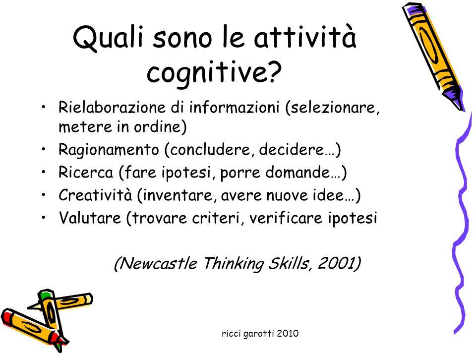 Quali sono le attività cognitive