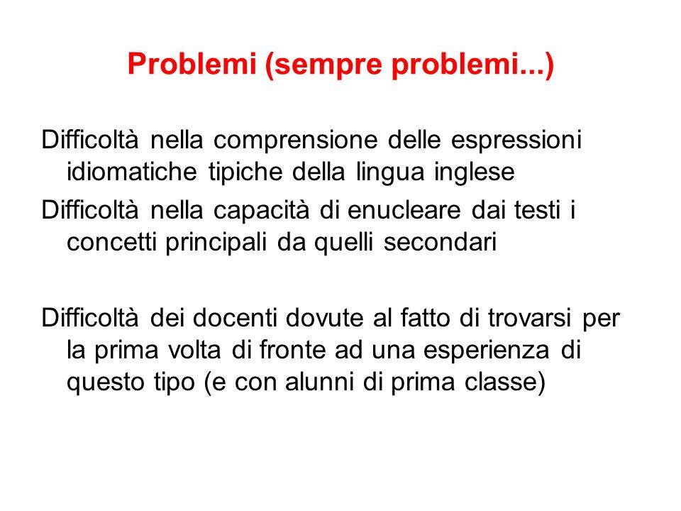 Problemi (sempre problemi...)