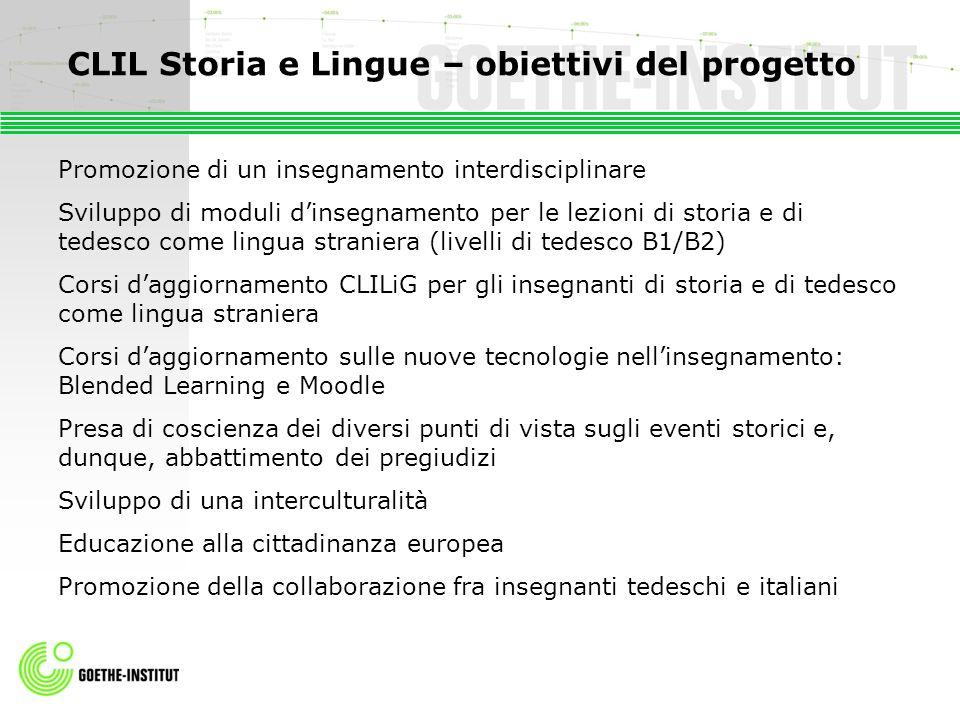 CLIL Storia e Lingue – obiettivi del progetto