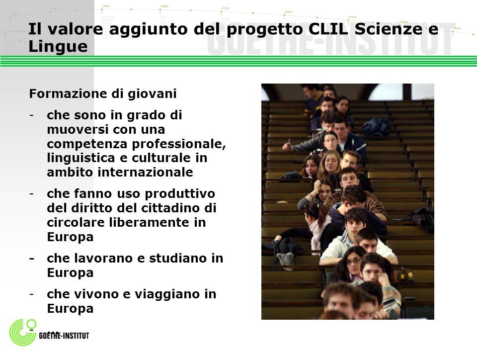 Il valore aggiunto del progetto CLIL Scienze e Lingue