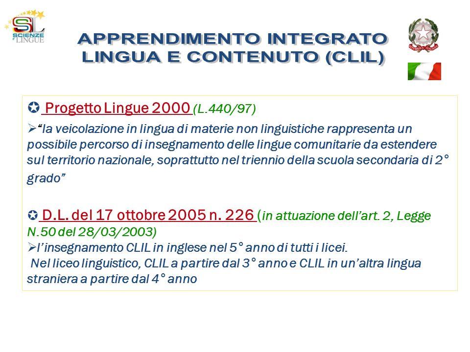 APPRENDIMENTO INTEGRATO LINGUA E CONTENUTO (CLIL)