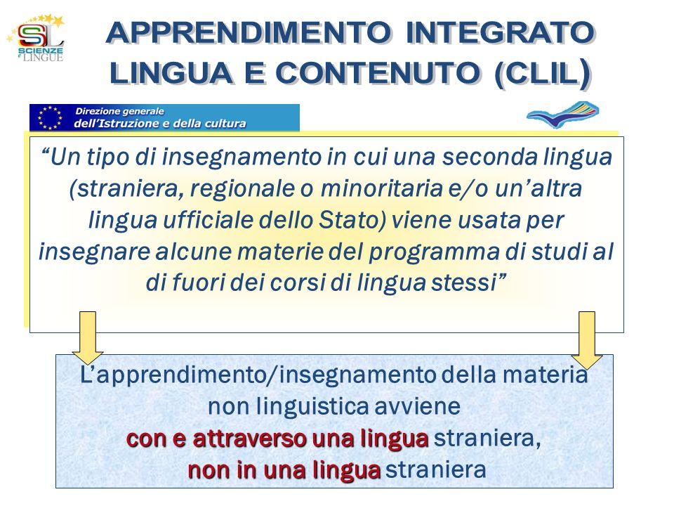 L'apprendimento/insegnamento della materia non linguistica avviene