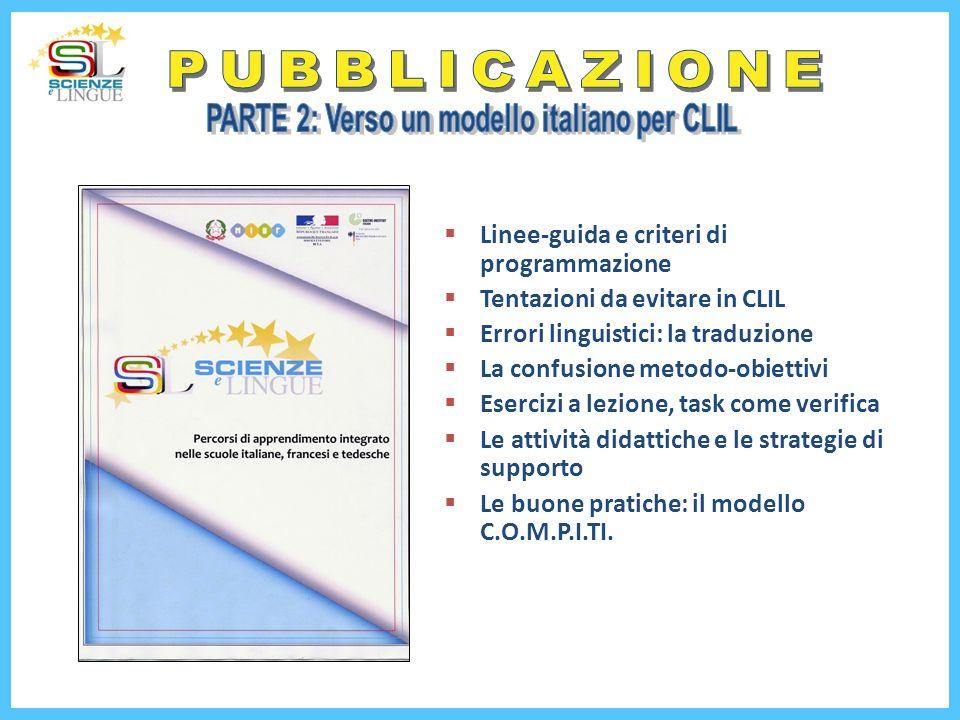 PARTE 2: Verso un modello italiano per CLIL