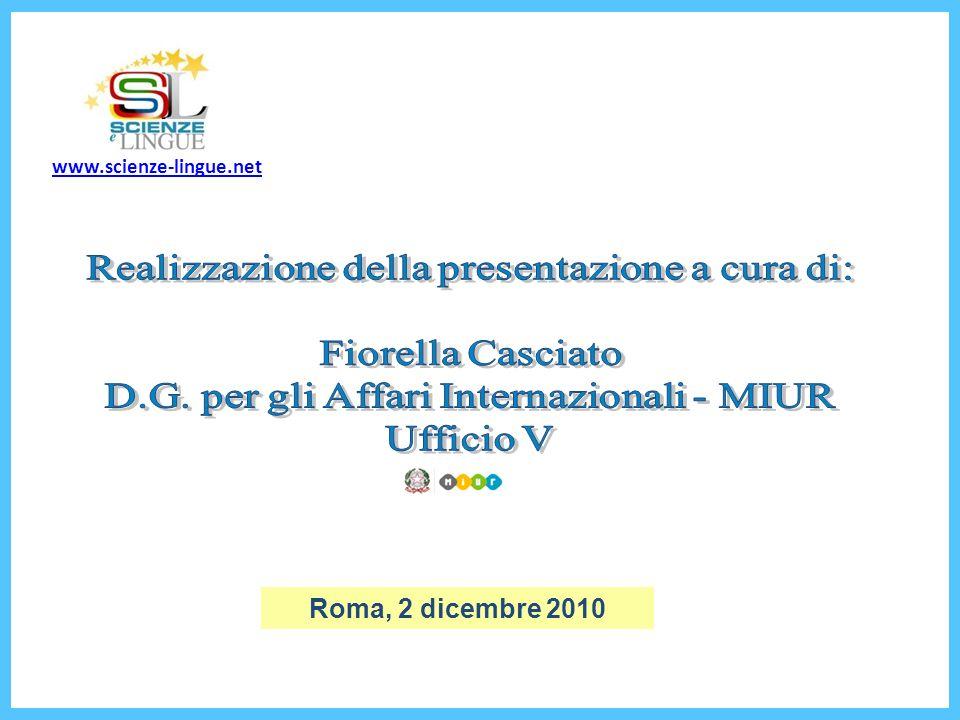 Realizzazione della presentazione a cura di: Fiorella Casciato