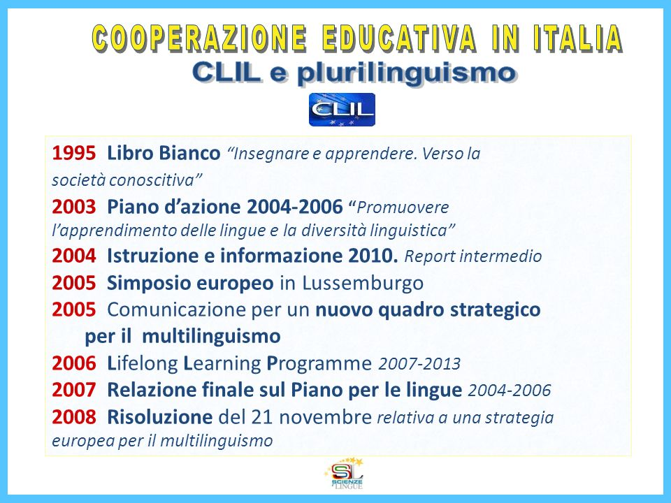 COOPERAZIONE EDUCATIVA IN ITALIA