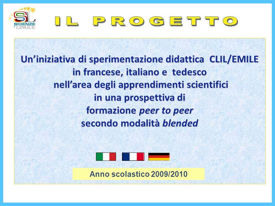 IL PROGETTO Un'iniziativa di sperimentazione didattica CLIL/EMILE