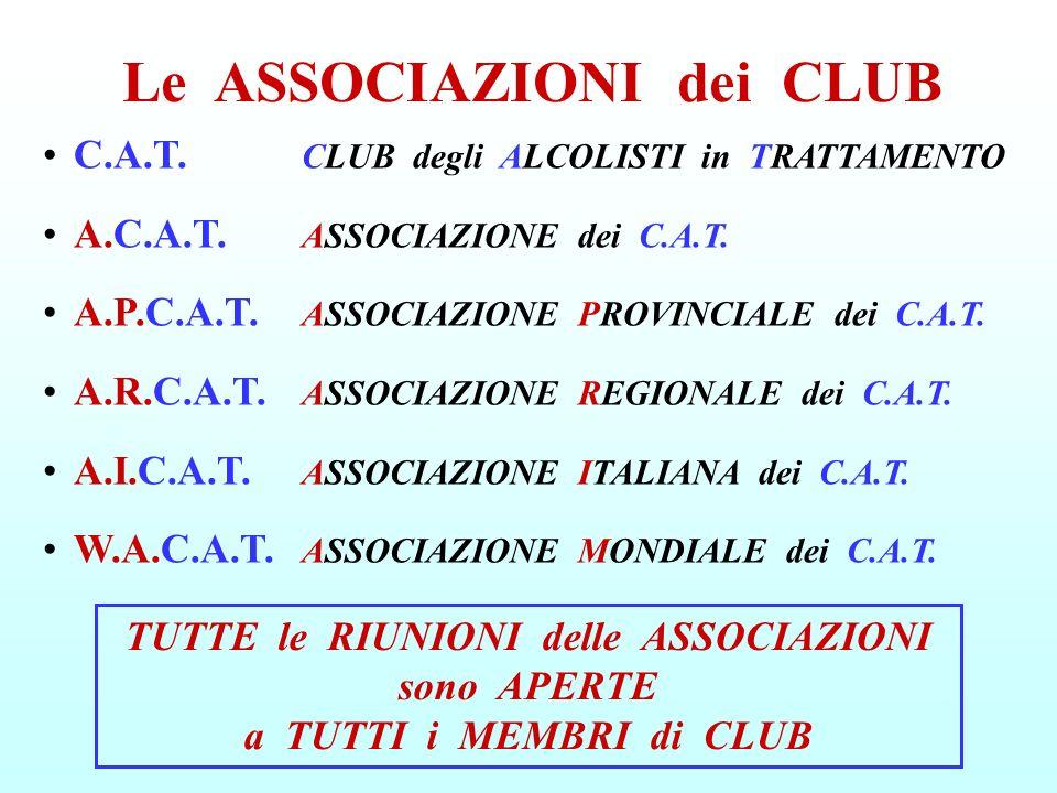 Le ASSOCIAZIONI dei CLUB