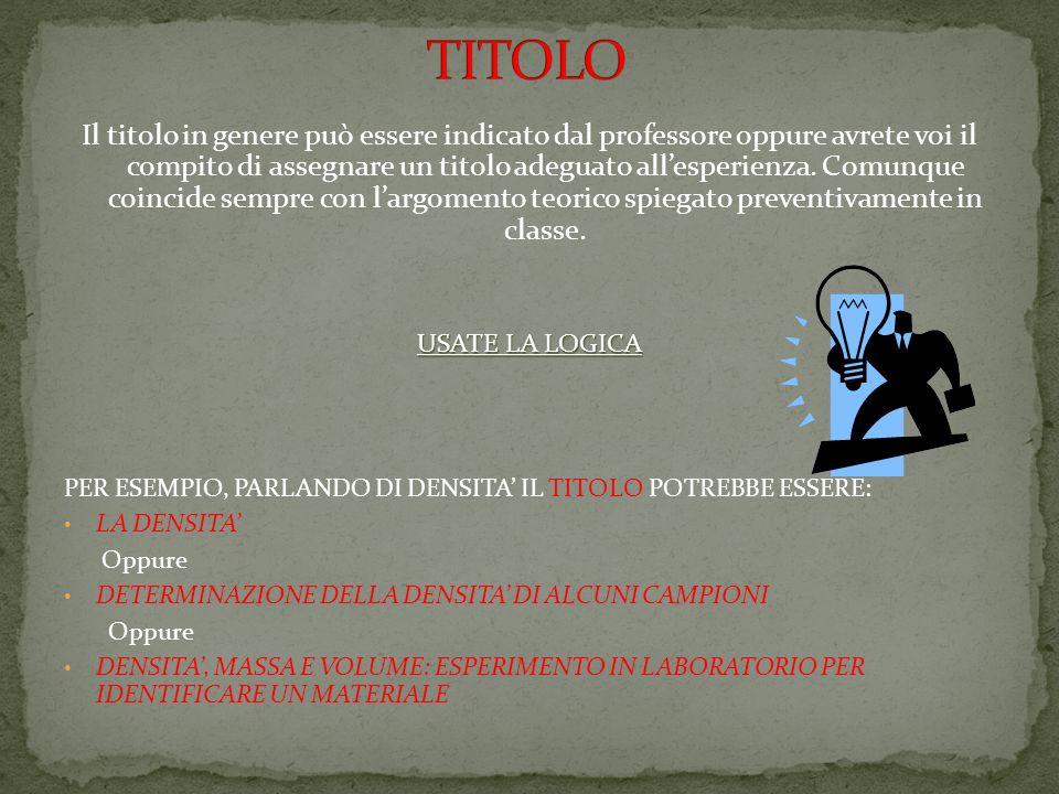 TITOLO
