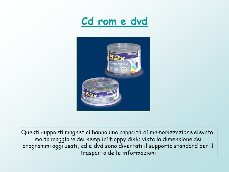 Cd rom e dvd