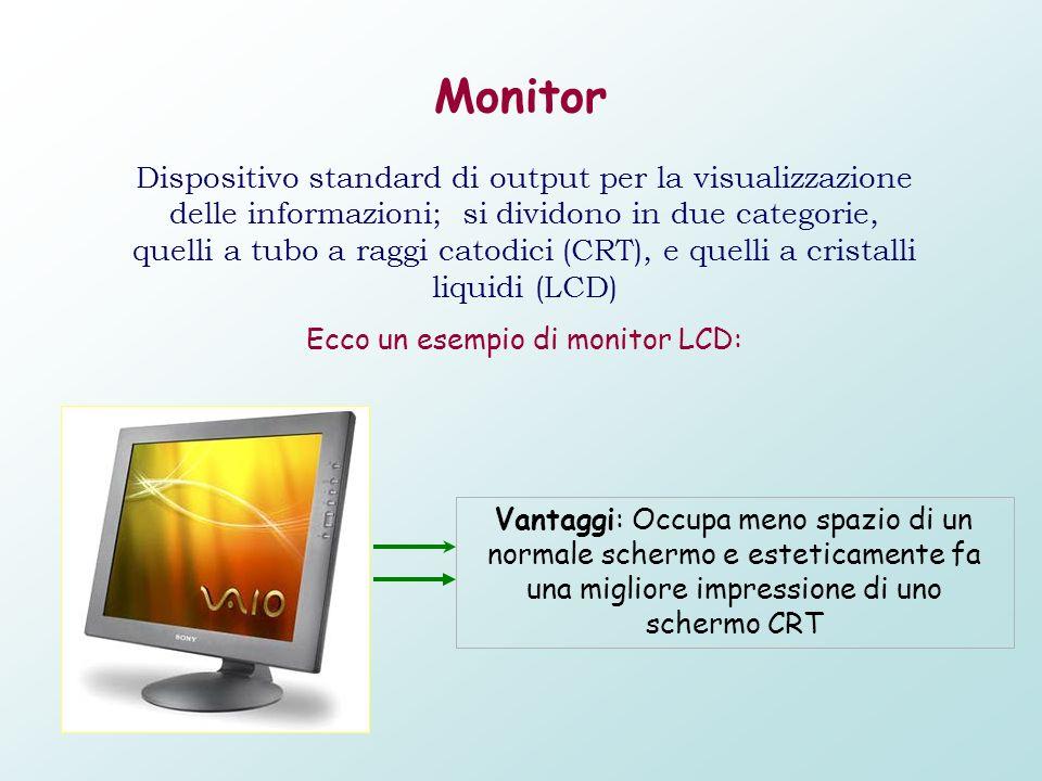 Ecco un esempio di monitor CRT: