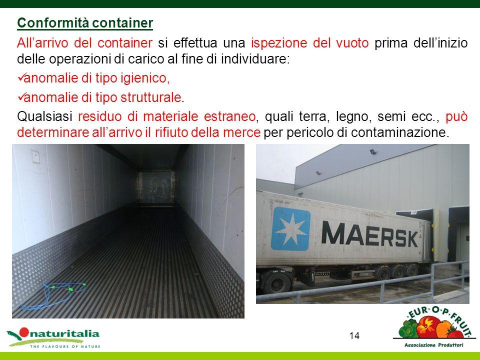 Conformità container