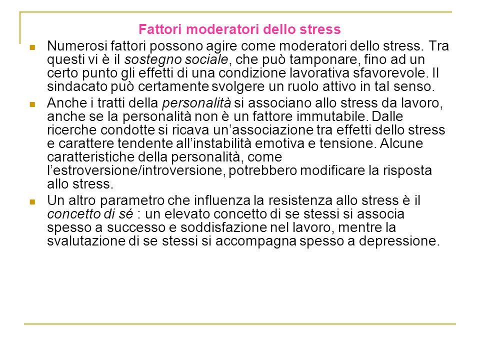 Fattori moderatori dello stress