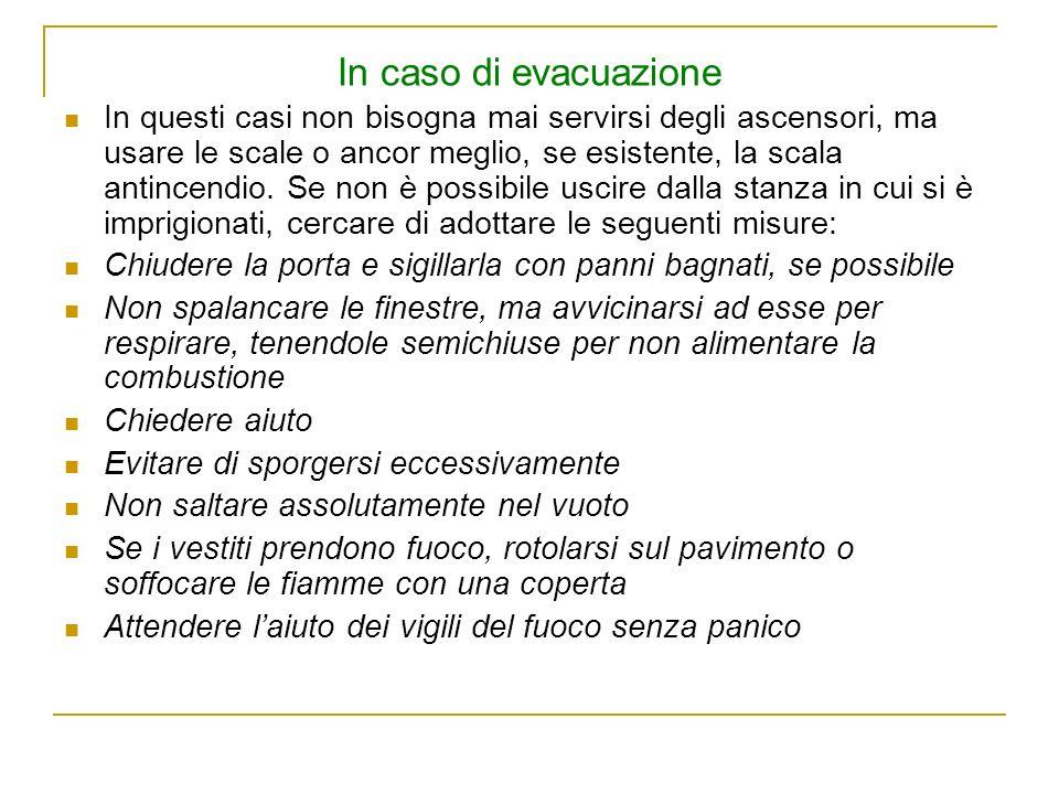 In caso di evacuazione