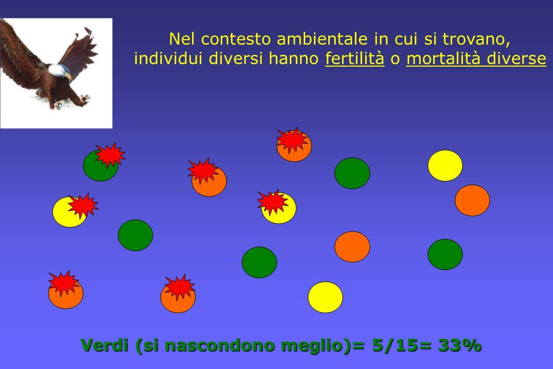 Nel contesto ambientale in cui si trovano, individui diversi hanno fertilità o mortalità diverse