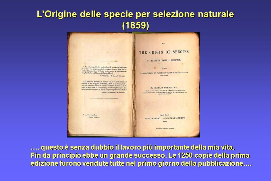 L'Origine delle specie per selezione naturale (1859)