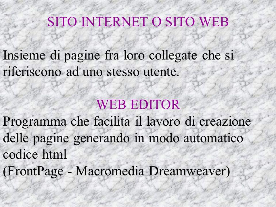 SITO INTERNET O SITO WEB