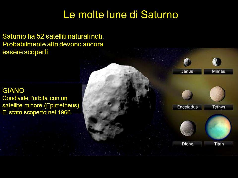 Le molte lune di Saturno