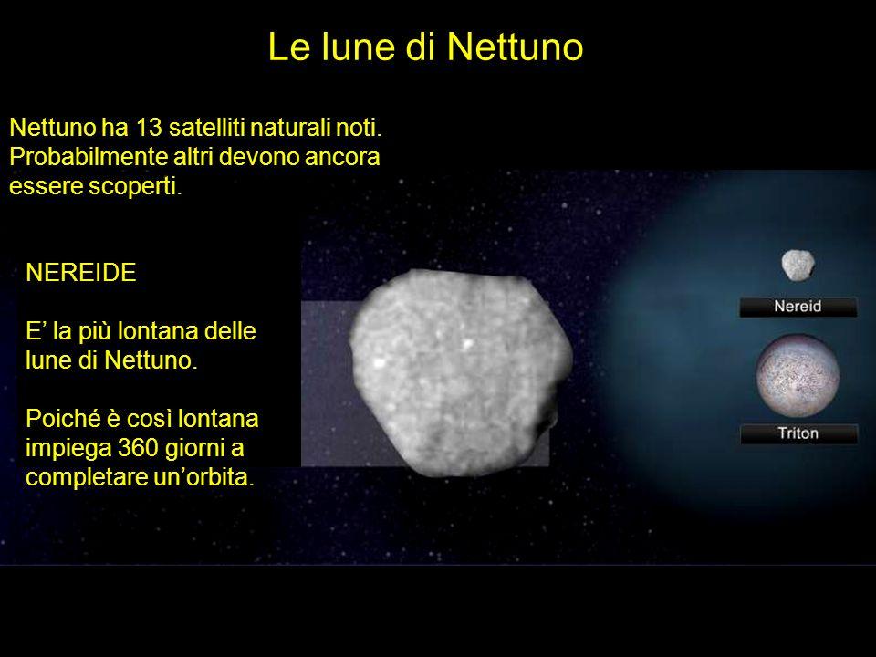 Le lune di Nettuno Nettuno ha 13 satelliti naturali noti. Probabilmente altri devono ancora essere scoperti.