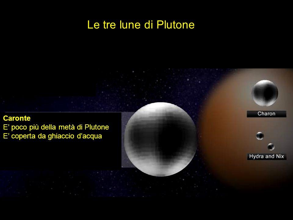 Le tre lune di Plutone Caronte E' poco più della metà di Plutone