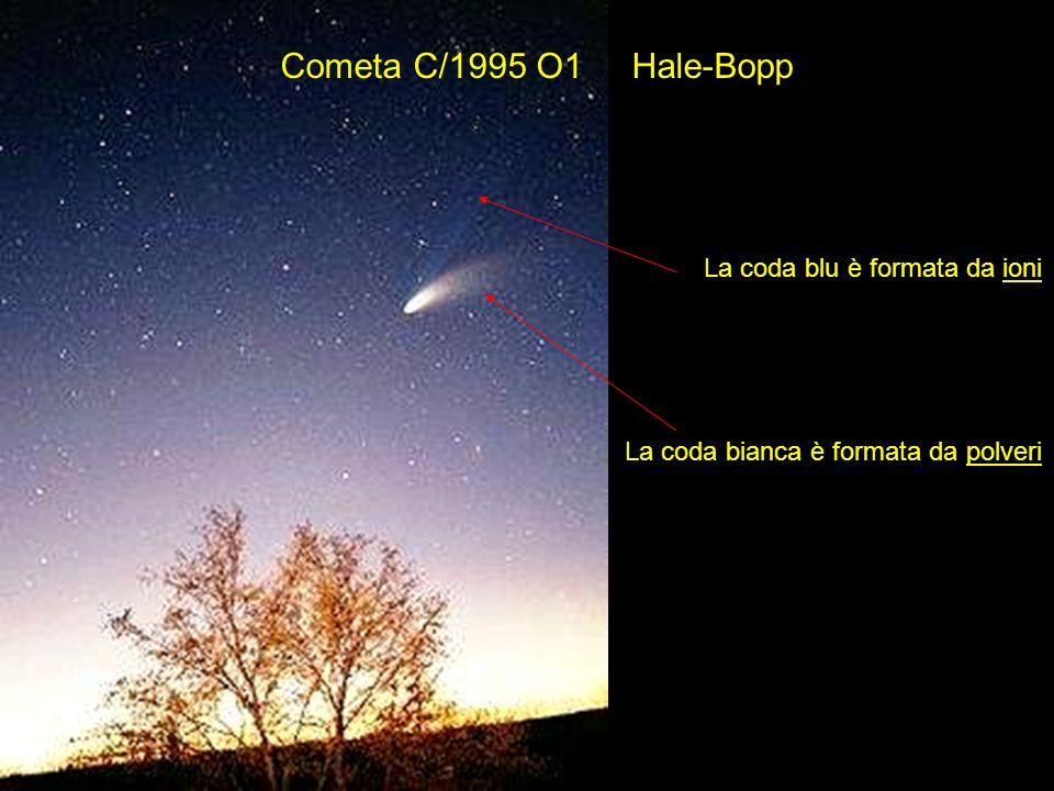 Cometa C/1995 O1 Hale-Bopp La coda blu è formata da ioni