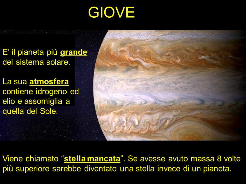 GIOVE E' il pianeta più grande del sistema solare.