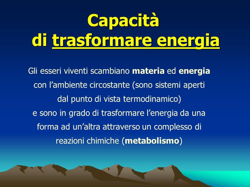 di trasformare energia