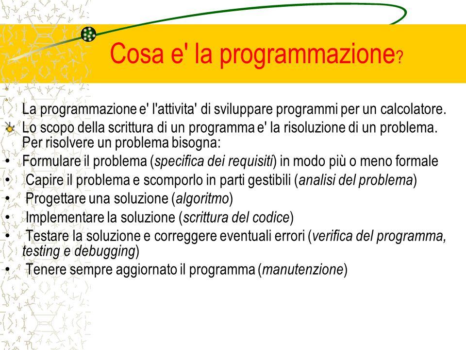 Cosa e la programmazione