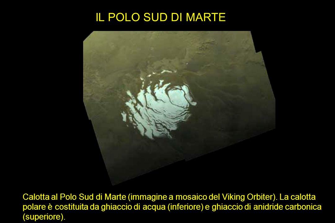IL POLO SUD DI MARTE Immagine a mosaico del Viking Orbiter che mostra la calotta al Polo Sud di Marte.