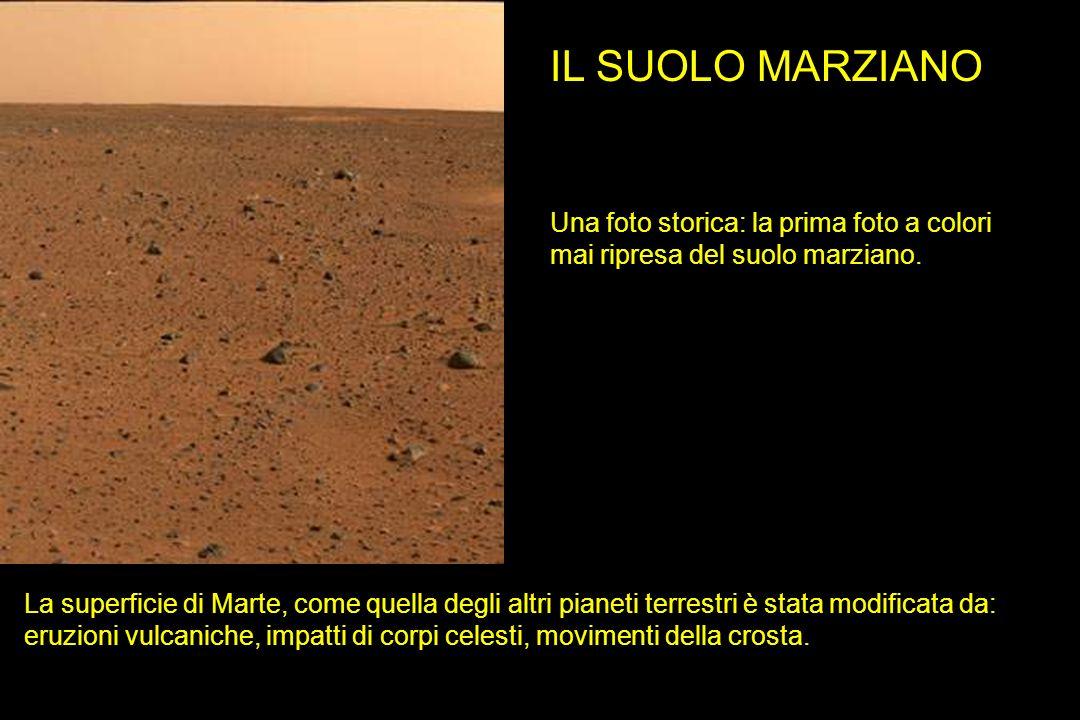 IL SUOLO MARZIANO Una foto storica: la prima foto a colori mai ripresa del suolo marziano.