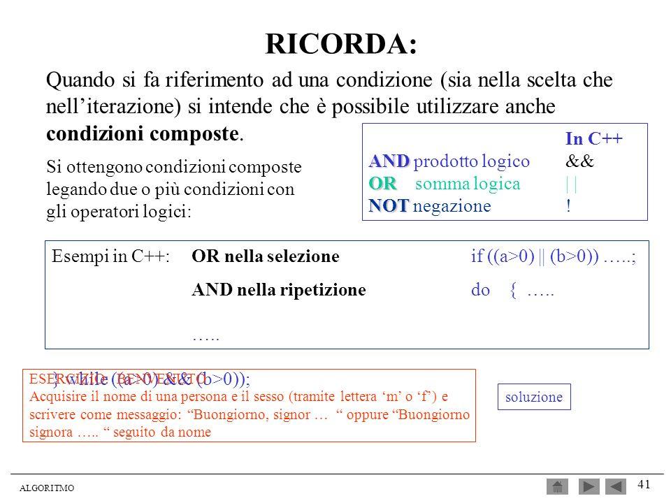 RICORDA: