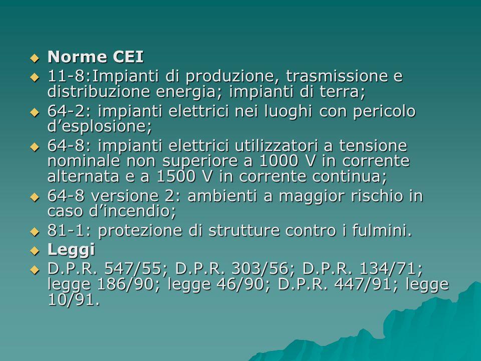 Norme CEI11-8:Impianti di produzione, trasmissione e distribuzione energia; impianti di terra;