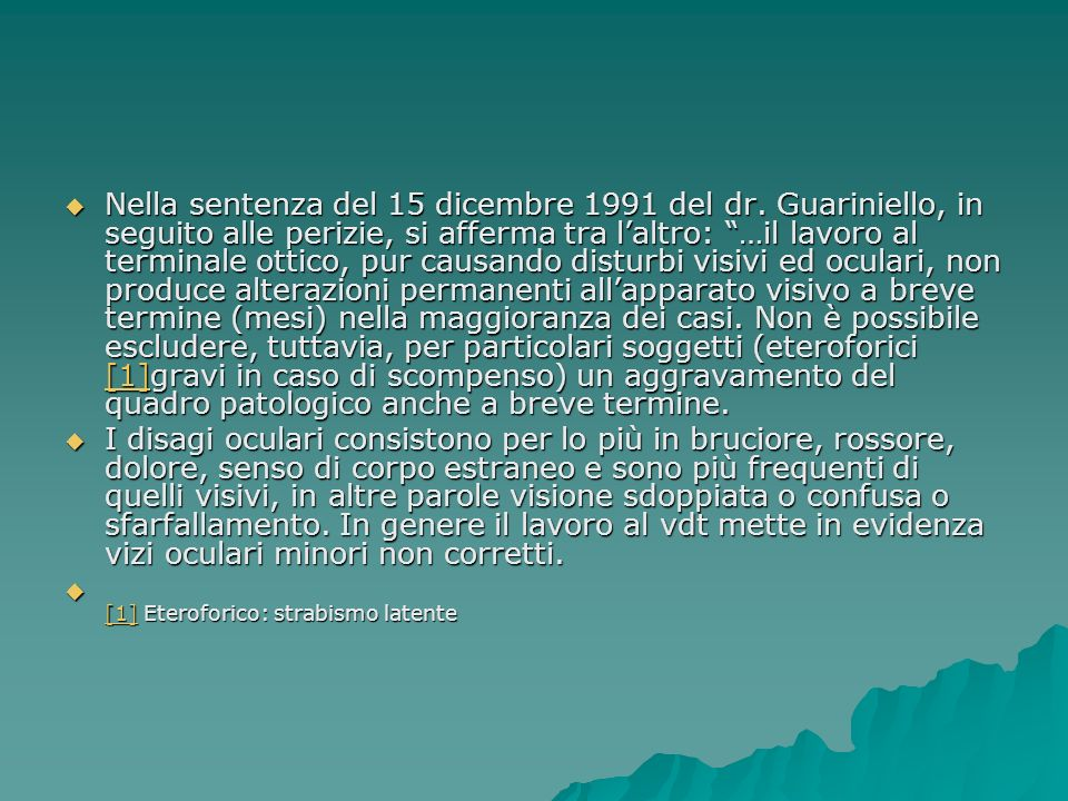 Nella sentenza del 15 dicembre 1991 del dr