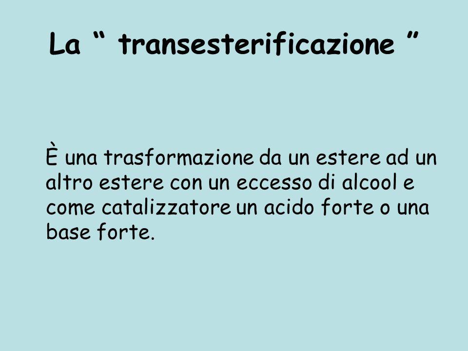 La transesterificazione