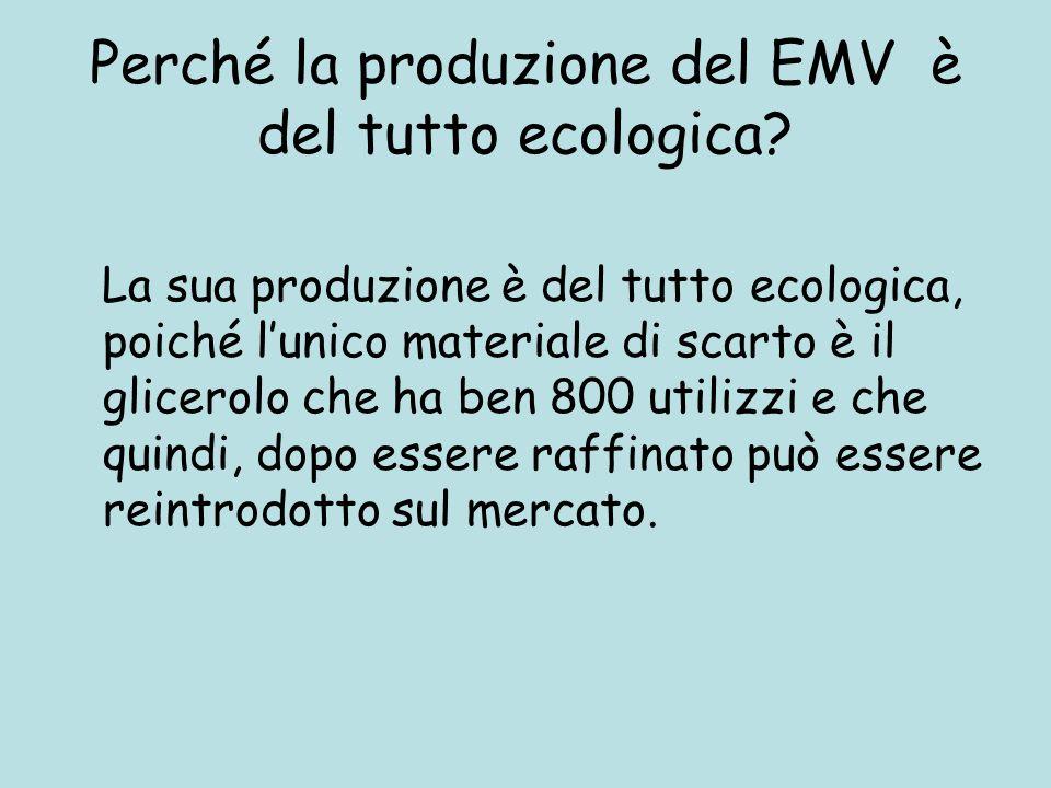 Perché la produzione del EMV è del tutto ecologica